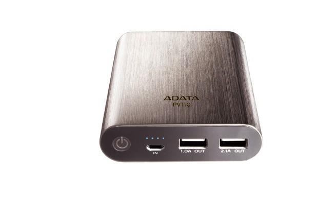 Powerbanky ADATA PV110 Power Bank 10400mAh, titánová ROZBALENÉ