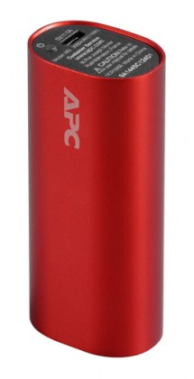 Powerbanky APC Mobile Power Pack, 3000mAh Li-ion cylinder, červený M3RD-EC