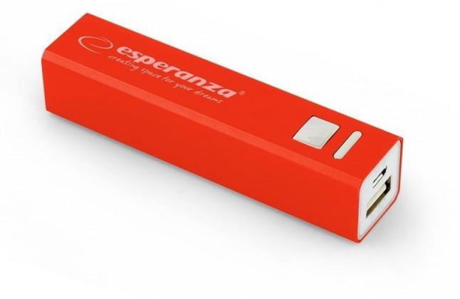 Powerbanky Esperanza EMP102R ERG externí baterie 2400mAh, červená