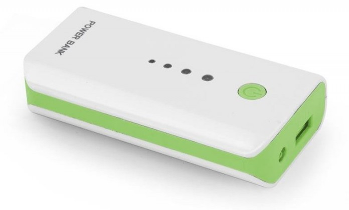 Powerbanky Esperanza EMP104WG ELECTRON externí baterie 5200mAh, bílo-zelená