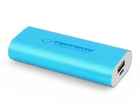 Powerbanky Esperanza EMP105B HADRON externí baterie 4400mAh, modrá
