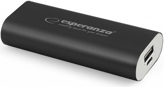 Powerbanky Esperanza EMP105K HADRON externí baterie 4400mAh, černá