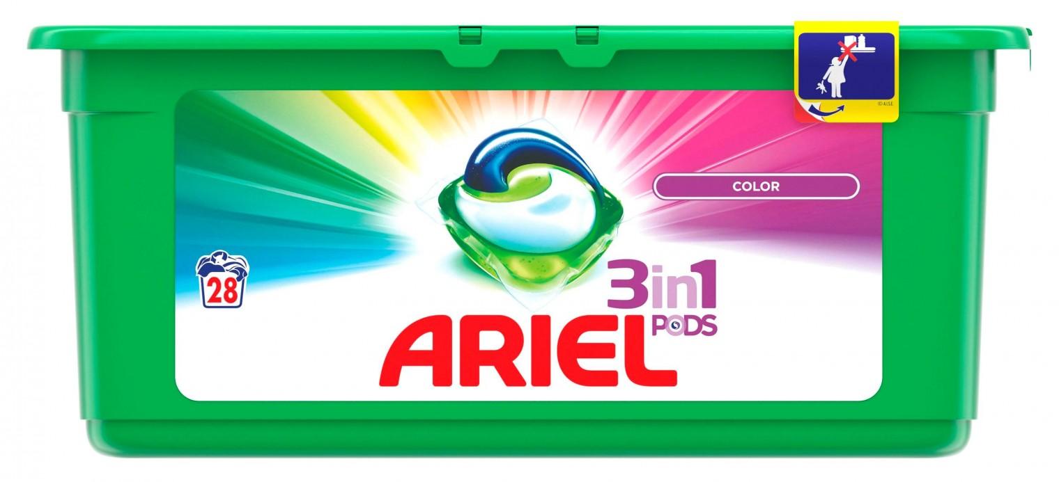 Práčka predom plnená Ariel Color - 28 kapslí