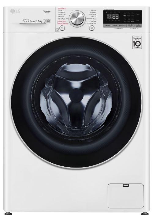Práčka predom plnená Práčka s predným plnením LG F2WN5S6S1, A+++, 6,5 kg, para, slim P
