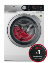 Práčka s predným plnením AEG SoftWater L9FEC49SC, A+++, 9 kg + rok pranie zadarmo
