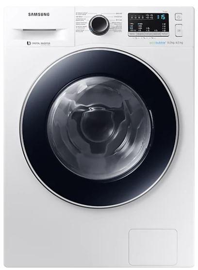 Práčka so sušičkou Práčka so sušičkou Samsung WD80M4A43JW, A, 8/4,5 kg
