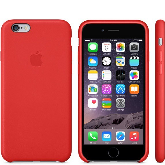 Pre Apple Apple iPhone 6 Leather Case Bright Red