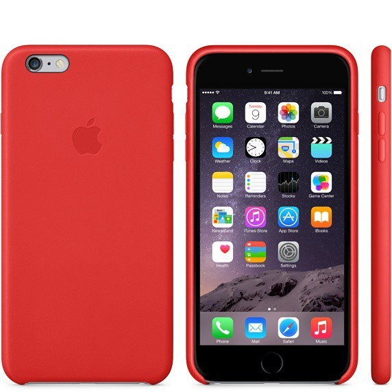 Pre Apple Apple iPhone 6 Plus Leather Case Bright Red