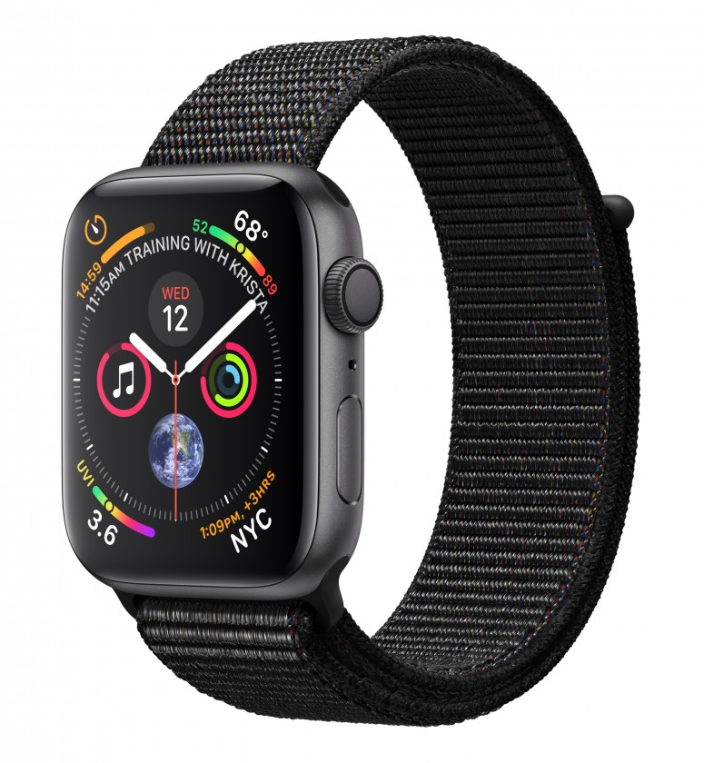 Pre Apple Apple Watch Series 4 GPS, 44mm, sivá, prevliekací remienok