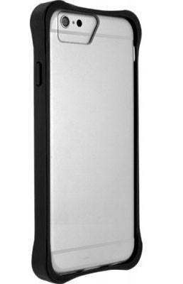 Pre Apple Bigben Bumper+transparentni oteviraci obal pre IPHONE 6/6s,cierna