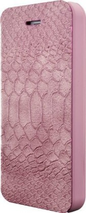 Pre Apple Bigben flip puzdro pre iPhone 6 / 6s, croco flap, ružová