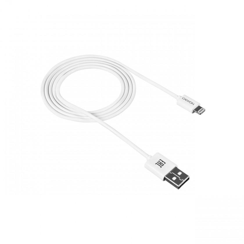 Pre Apple Kábel Canyon Lightning na USB, 1m, biela