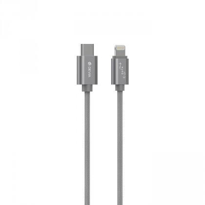 Pre Apple Kábel Devia USB Typ C na Lightning, 1m, šedá