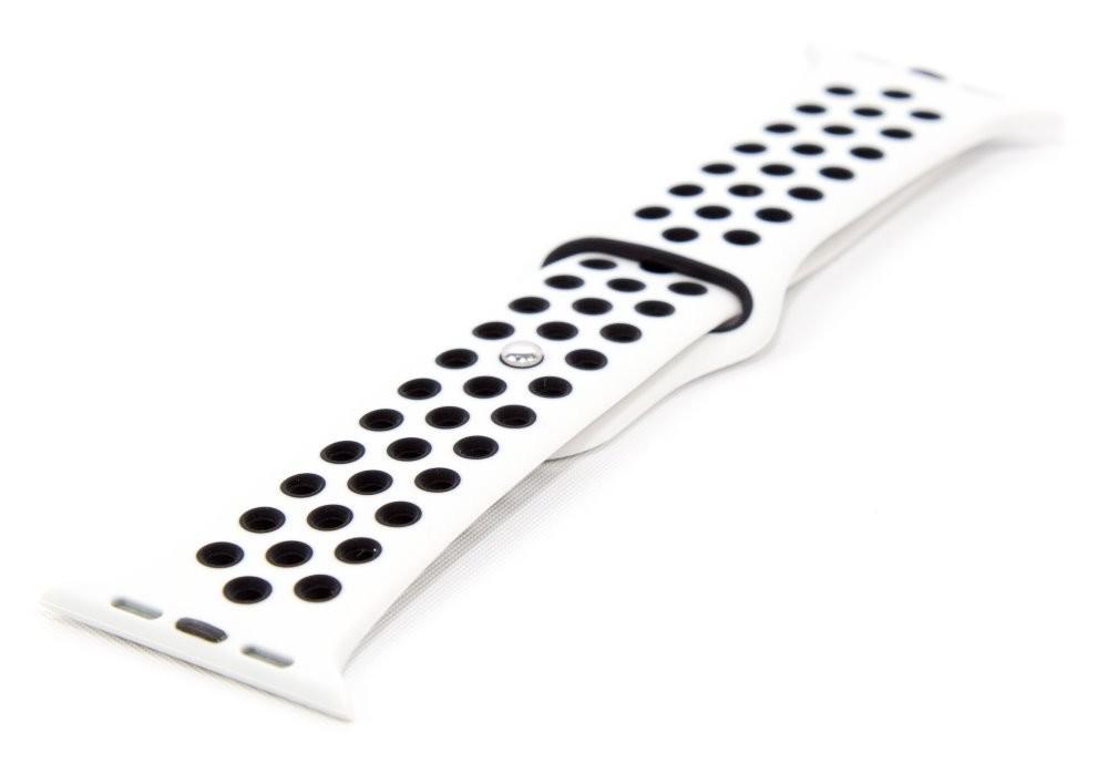 Pre Apple Remienok pre hodinky, biela/čierna, vhodné pre Apple Watch