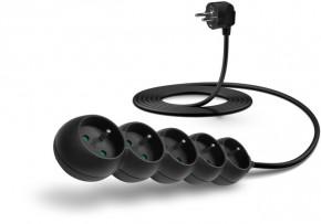 Predlžovací kábel Connect IT, 5xzásuvka, 3m, čierny