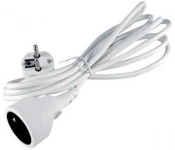 Predlžovací kábel Emos BEP0115, 1xzásuvka, 5m, biely