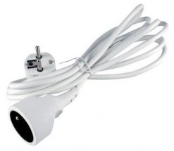 Predlžovací kábel Emos P0110, 1xzásuvka, 10m, biely