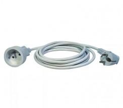 Predlžovací kábel Emos P0111, 1xzásuvka, 1,5m, biely