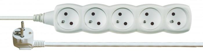 Predlžovací kábel Emos P0511C, 5xzásuvka, 1,5m, biely