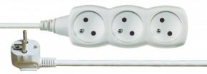 Predlžovací kábel Emos PP3Z2M, 3xzásuvka, 2m, biely