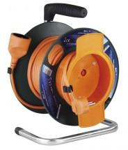 Predlžovací kábel na bubne, 1 zásuvka, 25m, PVC 1,5mm