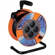 Predlžovací kábel na bubne, 4 zásuvky, 15M, PVC 1,5mm