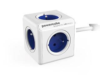 Predlžovačka Napájací adaptér PowerCube Extended 5 zásuviek modrá, 1,5m