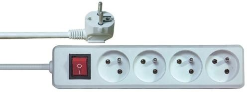 Predlžovačky ActiveJet P1415 predlžovací kábel 4 zásuvky 5m + vypínač
