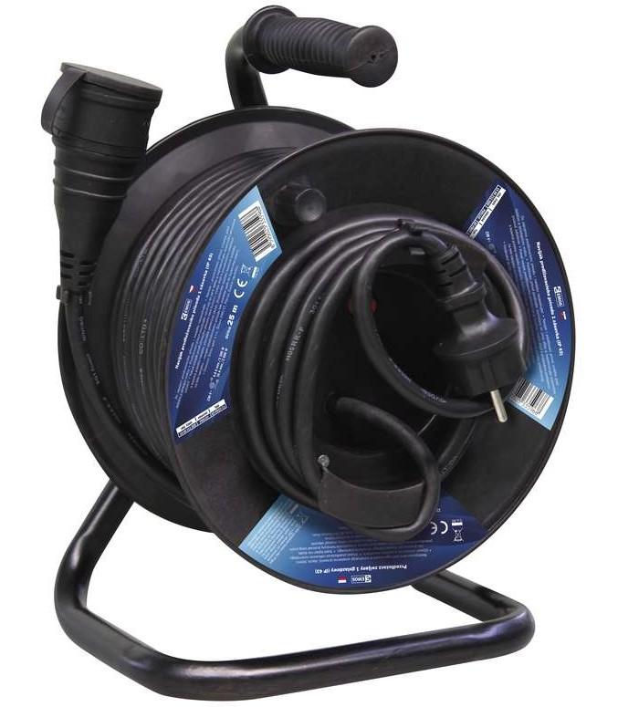 Predlžovačky Emos P08125, gumový predlžovací kábel na bubne, spojka 25m