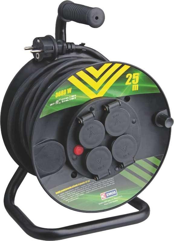 Predlžovačky Emos P084251 - Predlžovací kábel na bubne 4 zásuvky, 25m