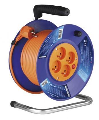 Predlžovačky Emos P19430, PVC predlžovací kábel na bubne, 4 zásuvky 30m