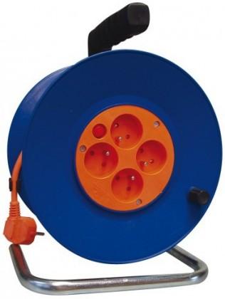 Predlžovačky Emos P19450, PVC predlžovací kábel na bubne, 4 zásuvky 50m