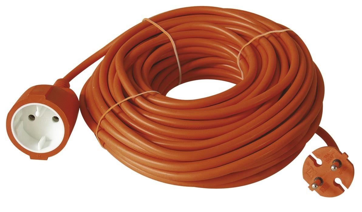 Predlžovačky Emos Prodlužovací kabel 40m oranžový