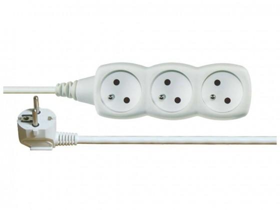 Predlžovačky Emos prodlužovací kabel P0315R 5m 3 zásuvky
