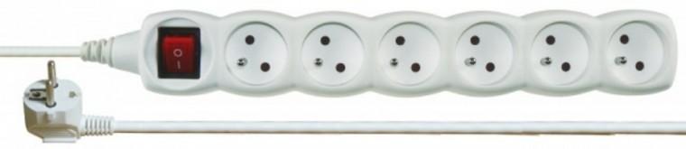 Predlžovačky Prodlužovací kabel 2m 6 zásuvky vypínač