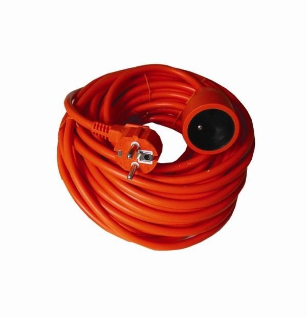 Predlžovačky Prodlužovací kabel 30m 1 zásuvka oranžový