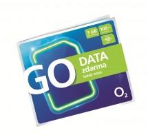 Předplacená karta O2 GO DATA zdarma