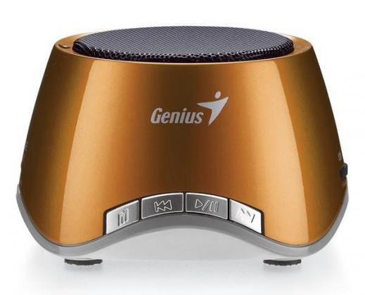 Prenosné GENIUS repro SP-i320, 2W, dobíjacie, USB slot, MP3 dekodér, bronz