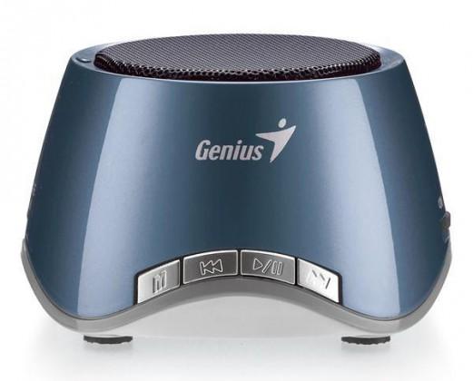 Prenosné GENIUS repro SP-i320, 2W, dobíjacie, USB slot, MP3 dekodér, modrá