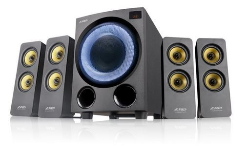Prenosné Reproduktory Fenda F&D F7700X, 4.1, 80W, RGB, BT 5.0, čierna