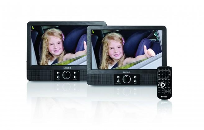 Prenosný DVD prehrávač Cestovný DVD prehrávač Lenco MES-405