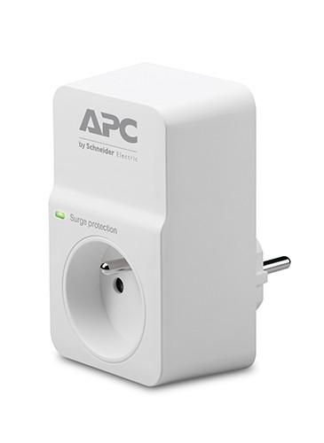 Prepäťová ochrana APC PM1WFR, 1 zásuvka, biela