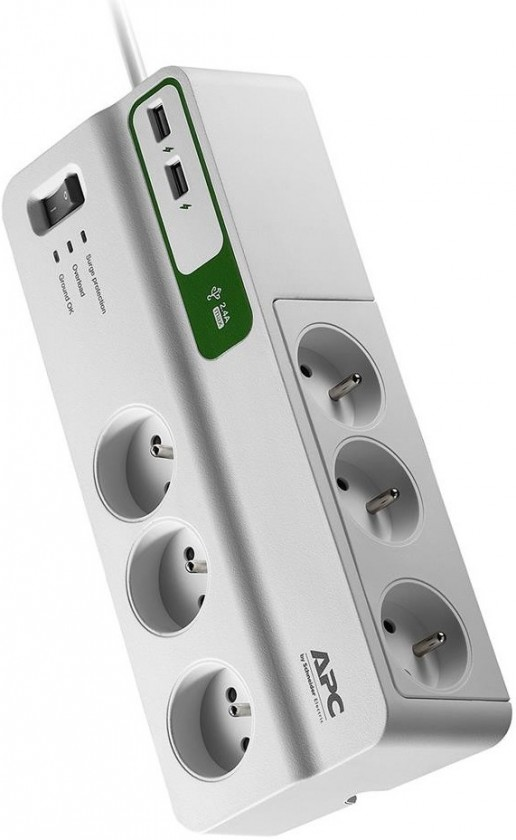 Prepäťové ochrany APC SurgeArrest Essential, 6 zásuvek + USB (PM6U-FR)