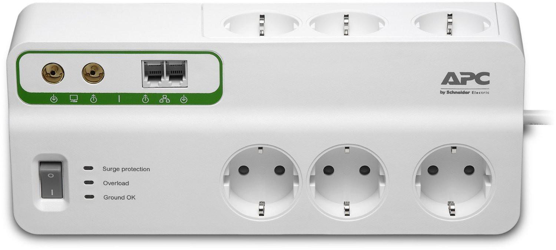 Prepäťové ochrany APC SurgeArrest Performance, 6 zásuvek + tel, koax. (PMH63VT-FR)