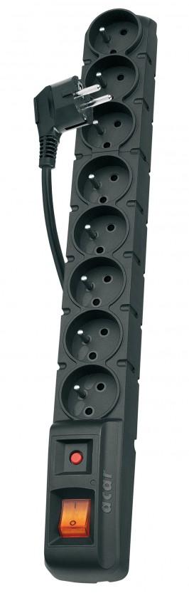 Prepäťové ochrany Emos P53899, prepäťová ochrana 8 zásuviek 1,5m,čierna