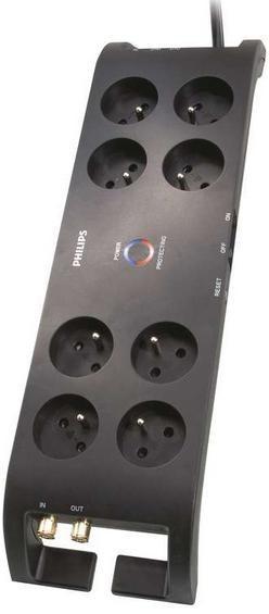 Prepäťové ochrany Prepäťová ochrana Philips P54030 8 zásuviek, 2700J, 3m