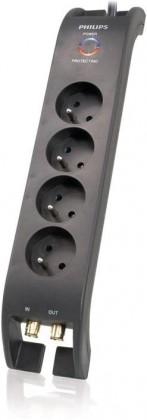 Prepäťové ochrany Prepäťová ochrana Philips SPN5044B19, 4 zásuvky, 2m