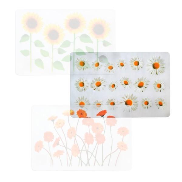 Prestieranie (kvety slnečnica, transparentné)