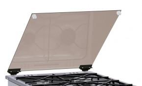 Príklop skleněný Mora 254222 čierny, ke sporákom š. 50cm