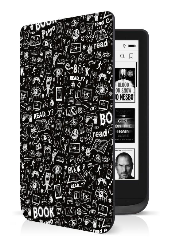 Príslušenstvo k čítačkám Puzdro Connect IT pre PocketBook 616/627/632, doodle čierne